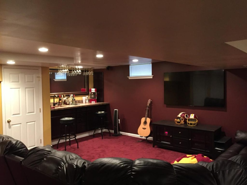 Finished Basement Remodel in South Jersey