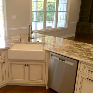 Full Kitchen Island with an Apron Sink in NJ