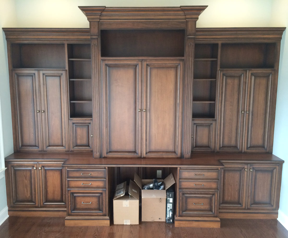 office built in. Office Area With Built-In Cabinets And Desk In South Jersey Built