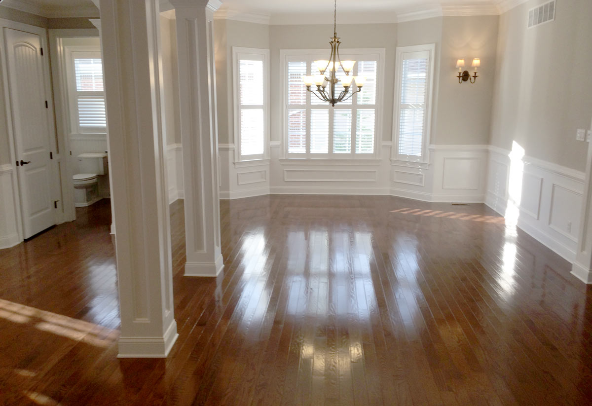 ... Dining Room With Hardwood Floors And Feature Lighting In NJ ...