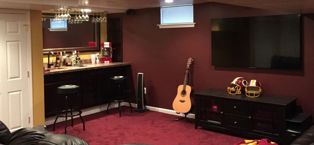 Finished Basement Remodeling Job in South Jersey